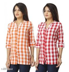 Shirts Comfy Cotton Women's Shirts Combo Fabric: Cotton  Sleeves: Sleeves Are Included  Size: S - 36 in M - 38 in L - 40 in XL - 42 in XXL - 44 Length: Up To 24 in  Type: Stitched Description: It Has 2 Piece Of Women's Shirts Pattern: Checkered Country of Origin: India Sizes Available: S, M, L, XL, XXL, XXXL   Catalog Rating: ★3.9 (471)  Catalog Name: Trendyfrog Comfy Cotton Women'S Shirts Combo Vol 1 CatalogID_308694 C79-SC1022 Code: 444-2313644-1311