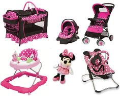The Disney Baby Sweet Wonder Play Yard has Disney Minnie characters your baby will love watching, and the features you are looking for. Your little one will enjoy them as well as you by seeing your baby being happy! Car Seat And Stroller, Baby Car Seats, Twin Strollers, Travel Systems For Baby, Baby Disney, Baby Items, Pink Girl, Gifts For Kids, Baby Gifts