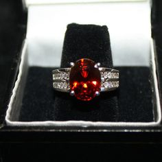 Sale14k White Gold 582ct VVS Spessartite Garnet by ladygemologist, $1499.00 LAYAWAY FOR CHRISTMAS NOW!!!
