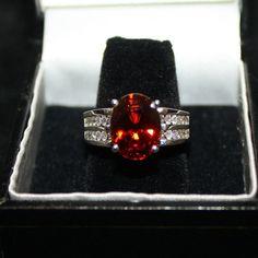 Sale14k White Gold 582ct VVS Spessartite Garnet by ladygemologist, $1499.00 LAYAWAY FOR CHRISTMAS NOW!!!