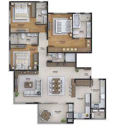 Sims House Plans, Dream House Plans, House Floor Plans, Architecture Design, Circle House, House Construction Plan, Casa Patio, Apartment Floor Plans, Bungalow House Design