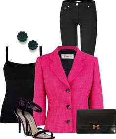 """""""Jeans and Blazer"""" by silek ❤ liked on Polyvore"""