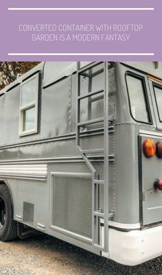 The Greyhound Skoolie by Wind River Tiny Homes #tiny homes deck Greyhound Skoolie — Wind River Tiny Homes