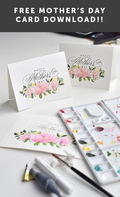I Still Love You by Melissa Esplin: Freebie: Mother's Day Printable 2018 I Still Love You, Card Making Tutorials, Mothers Day Crafts, Happy Day, Beautiful Hands, Hand Lettering, Free Printables, Calligraphy, Watercolor