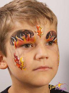 Brandweer schminken