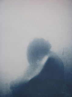 Cyanotype from Degree Show. Lauren Boyes #blur #portrait #blue
