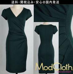★人気 モドクロス modcloth 結婚式 シンプル タイト ワンピース ドレス 2016 ファッション