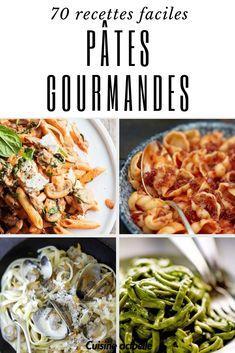 recettes pâtes, sauces pâtes, idées pâtes, pâtes faciles Yummy Pasta Recipes, Easy Smoothie Recipes, Easy Smoothies, Coconut Recipes, Good Healthy Recipes, Healthy Snacks, Snack Recipes, One Pot Pasta, Lunch
