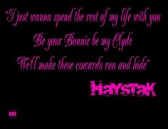 bonnie and clyde by haystak