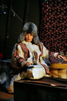 Khant woman from North Russia's city of Salekhard, located right on the Arctic Circle.