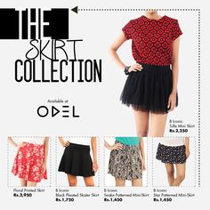 THE SKIRT COLLECTION ! Shop online at www.odel.lk #Odel #Skirts #Odelstyle #Odelfashion #Trends #Fashionbloggers #Fashion #Style