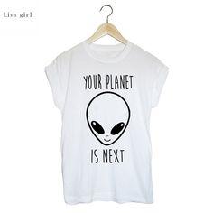 2017 New Clothing Summer Cotton White Aliens 3D Print Loose Round Collar Short Sleeve Women's T-Shirt 4XL Plus Size Women Y077