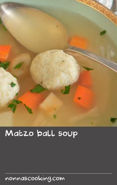 Matzo ball soup | Matzah, matzoh, matza… there are as many ways of spelling this New York classic as there are ways to cook it: several small balls versus one big ball; dense balls versus light and fluffy ones; vegetables in the broth versus broth only, and the list goes on. This recipe makes 12 medium-sized matzo balls that are light and fluffy, with some carrots and parsnips in the broth for sweetness. You can start this recipe a day ahead. Swede Recipes, Pork Recipes, Classic Soup Recipe, Recipes With Vegetable Broth, Bone Soup, Soup Broth, Meals For One, Recipe Of The Day, Spelling