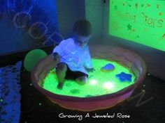 Core Glow beads and imagination!  All you need!