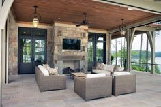 Discover year-round havens and extensions of the well-appointed home with the top 50 best patio ceiling ideas. Outdoor Rooms, Outdoor Walls, Outdoor Living, Outdoor Furniture Sets, Outdoor Ideas, Outdoor Pergola, Outdoor Fire, Gazebo, Deck Ceiling Ideas