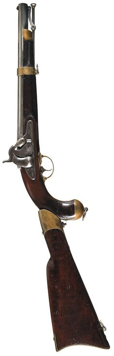 Springfield Model 1855 pistol carbine with detachable buttstock.