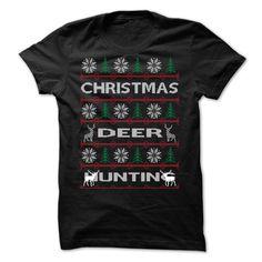 [Popular Tshirt name printing] Christmas Deer Hunting Coupon 15% Hoodies, Funny Tee Shirts