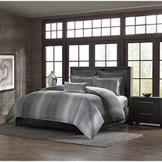 Metropolitan Home Shagreen Mini Duvet Cover Set King Grey * Check this awesome product by going to the link at the image.