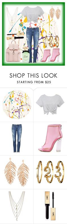 """""""Random Things"""" by daniellejosephinevogue ❤ liked on Polyvore featuring Lisa Perry, AG Adriano Goldschmied, WithChic, Ettika, Yves Saint Laurent, Dolce&Gabbana and polyvoreeditorial"""