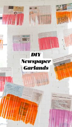 Diy And Crafts, Crafts For Kids, Arts And Crafts, Paper Crafts, Diy Garland, Paper Garlands, Flag Garland, Idee Diy, Party Planning