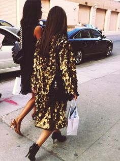 all i need is a golden paillette coat and i'll be set for life. #glitterati #nyfw