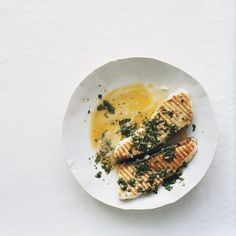 Grilled Halibut with Chimichurri - made this with cod baked in the ...