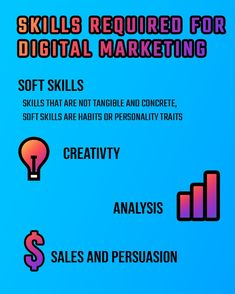 Soft Skills and Hard Skills needed to succeed with digital marketing. Infographics, Digital Marketing, Learning, Infographic, Studying, Teaching, Info Graphics, Visual Schedules, Onderwijs