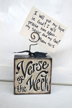 Verse Of The Week Card Holder. $14.50, via Etsy.