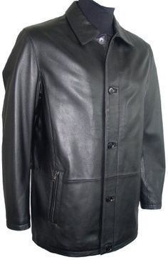 Paccilo 20066 Real Genuine Lambskin Leather 3/4 Half Coat