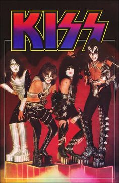 "Mint condition 24 x 36 inch KISS ""Cubes"" reproduction poster. No tack holes, tape marks, pin holes or dog-eared corners, just a perfect mint poster ready for a frame and wanting to be hung up in any KISS room. Kiss Rock Bands, Kiss Band, Kiss Images, Kiss Pictures, Paul Stanley, Guns N Roses, Banda Kiss, Samba, Gene Simmons Kiss"