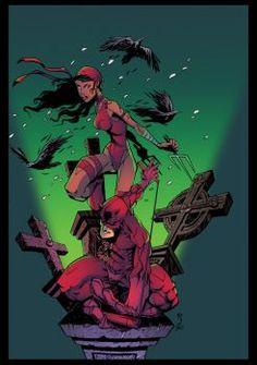 Daredevil and Elektra by GustavoSantos01