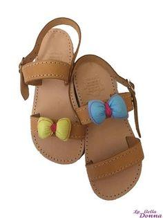 La Bella Donna - Χειροποίητα δερματινα παιδικά σανδάλια - Bows Sandals, Shoes, Fashion, Moda, Zapatos, Shoes Outlet, Fasion, Footwear, Sandal