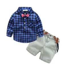 9cf2aafa Baby Boy - Party Wear - Blue Shirt & Shorts - 4 Pieces Set