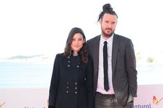 "Actress Àstrid Bergès-Frisbey and director Mike Cahill at the photo call while attending the Sitges Film Festival to promote their film ""I Origins"" (2014)"