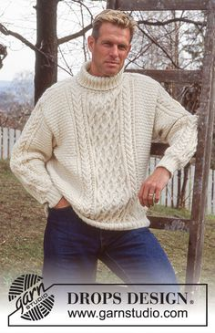 Fisher's Fancy / DROPS 59-6 - Free knitting patterns by DROPS Design Knitting Patterns Free, Free Knitting, Free Pattern, Crochet Patterns, Drops Design, Mens Jumpers, Jumpers For Women, Sweaters For Women, Fancy