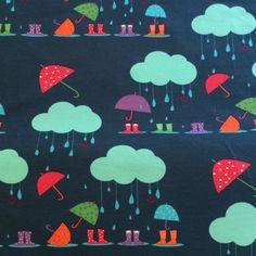 Rain Petrol - by Lillestoff - Organic Cotton Knit
