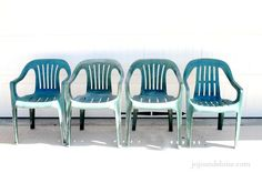 Bring New Life to Your Old Plastic Chairs, With Krylon Spray Paint