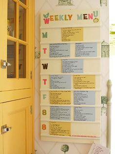 recipe board! Need to do this...this would make a happy husband ;)