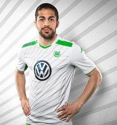 3cbacbc5e7f10 VfL Wolfsburg 2014 15 Kappa Away Kits