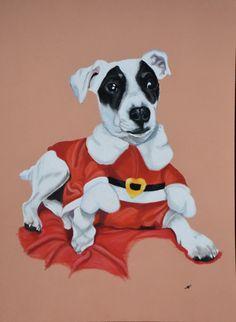 Portrait de chien Jack Russel Artiste animalier La Galerie de Julie