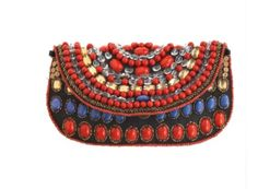 ac768ad6b Isabelle Beaded Clutch purse $195 Messenger Bag Backpack, Beaded Clutch,  Cute Purses, Clutch