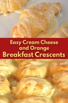 Seeking an easy breakfast pastry? These crescent rolls with orange and cream cheese are flaky, and tender. So easy and fast! Brunch Recipes, Breakfast Recipes, Breakfast Ideas, Dinner Recipes, Creasant Roll Recipes, Baking Recipes, Crescent Roll Cheesecake, Cheese Twists, Crescent Recipes