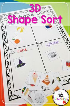 Encourage students to sort their 3D shapes with these fun printable objects. Students practice their fine motor skills by cutting and pasting the objects on the page. Place them in your math centers to work on in groups or as an independent activity. 3 Dimensional Shapes, Shape Sort, 2d And 3d Shapes, Sorting Activities, Cut And Paste, Math Resources, Student Learning, Fine Motor Skills, Math Centers