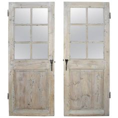 Antique Set of Two 18th Century Wooden Doors with Matching Hardware from Lyon 1