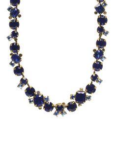 Glittering Multi-Cut Crystal Necklace in Blue Jean Dream - Sorrelli