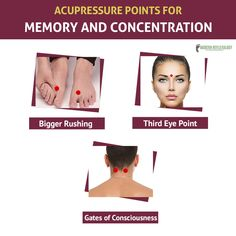Having trouble concentrating? Work on these #Acupressure points. #ModernReflexology