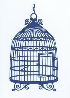 Stunning bird cage silhouette by hilemanhouse on Etsy, $1.99