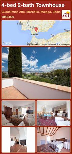 4-bed 2-bath Townhouse in Guadalmina Alta, Marbella, Malaga, Spain ►€345,000 #PropertyForSaleInSpain