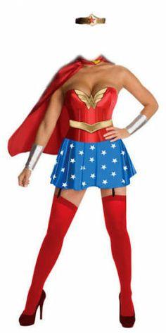 Ladies Superhero Costume ~ Wonder Woman ~ Fancy Dress | eBay