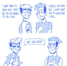 Based on a comment I got on my instagram, about how Jack is afraid to share his feelings so Anti expresses them openly for him, and Mark doesn't want to share his feelings so Dark helps hide them away for him… Headcanon has been created and...